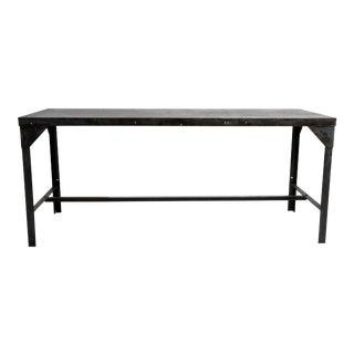 Vintage Metal Industrial Welder's Table For Sale