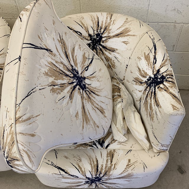 Milo Baughman Style Swivel Chairs - a Pair For Sale In Richmond - Image 6 of 12