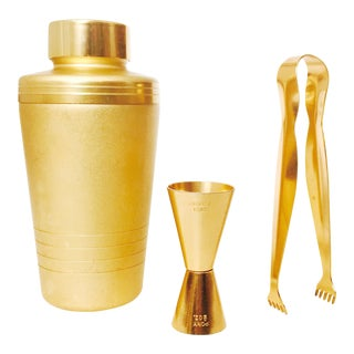Matte Gold Vintage Cocktail Set