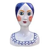 Image of Mid-Century Modern Italian Ceramic Head Vase Planter For Sale