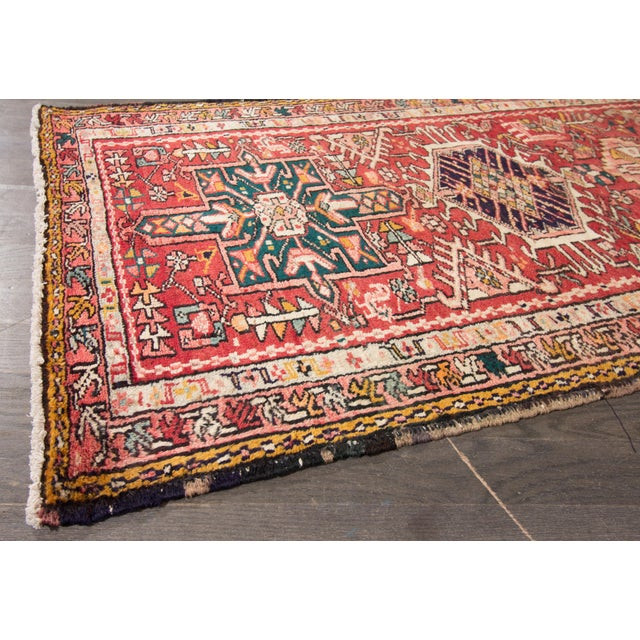 "Apadana - Vintage Persian Heriz Rug, 2'2"" x 12'11"" For Sale - Image 4 of 5"