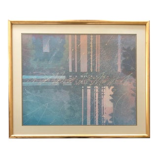 "Abstract Lithograph Oversized by Marcus Uzilevsky ""City Lights"" For Sale"