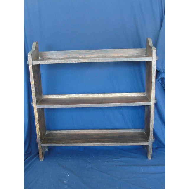 20th Century Mission Oak 3-Tier Book Shelf For Sale - Image 9 of 9