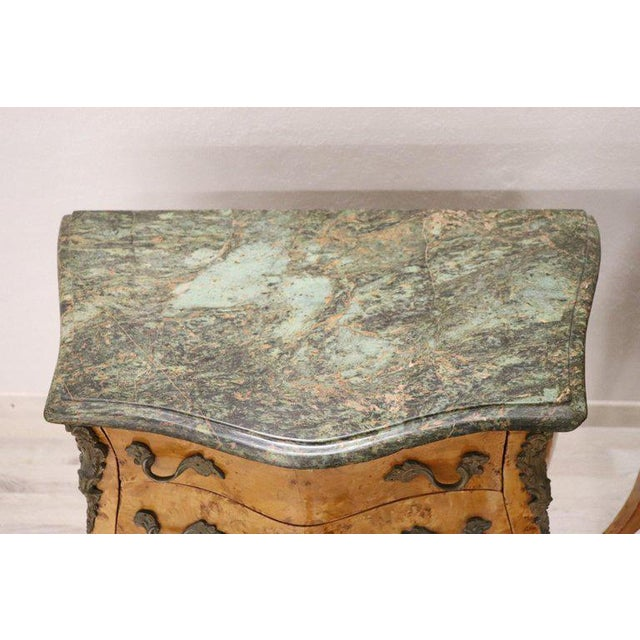 Gray 20th Century Italian Venetian Louis XV Style in Wood Burl - a Pair For Sale - Image 8 of 13