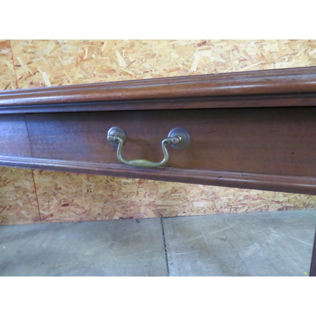 Italian Walnut Console Table For Sale - Image 4 of 6