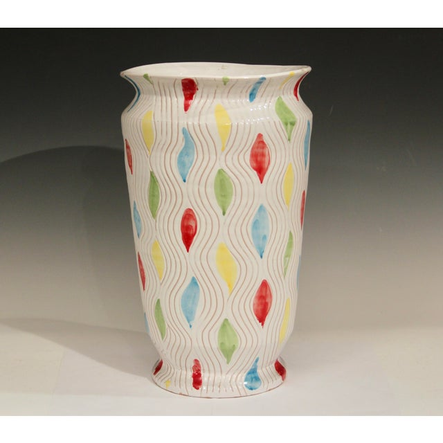 Vintage Large 1960's Raymor Italian Pottery Vase For Sale - Image 10 of 10