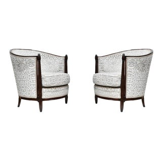 Paul Follot Designed Armchairs - Pair For Sale