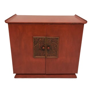 Mid-Century Chinoiserie Bar Cabinet For Sale