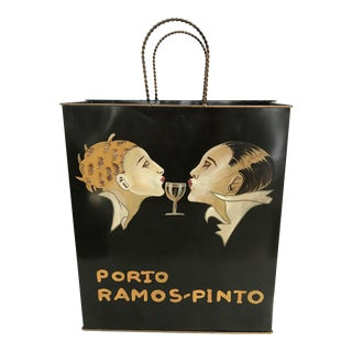 Porto Ramos Pinto Tole Ware Wine Magazine Basket Bag For Sale