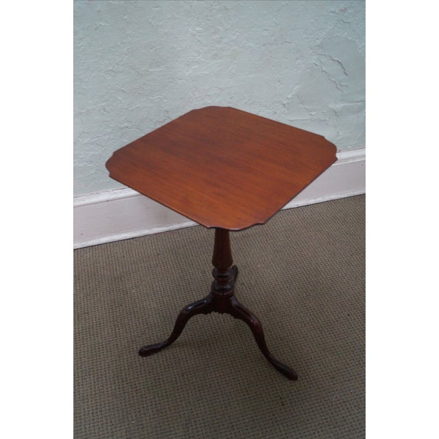 Nathan Margolis Hand Crafted Mahogany Side Table For Sale - Image 7 of 10