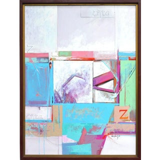 Pastel Abstract Oil Painting by Lewis Kesling For Sale