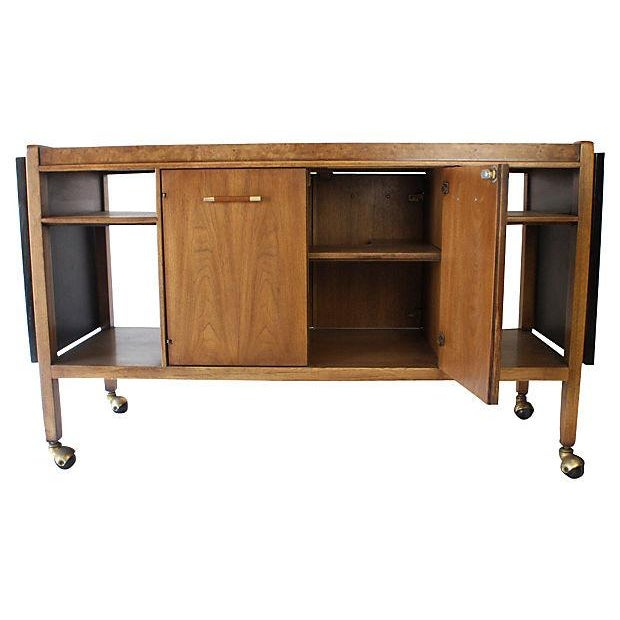Mid-Century Modern Bar Cart or Serving Cart - Image 2 of 7