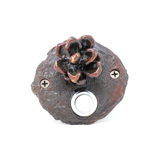 Cabin Log End Pinyon Cone Doorbell For Sale - Image 3 of 5