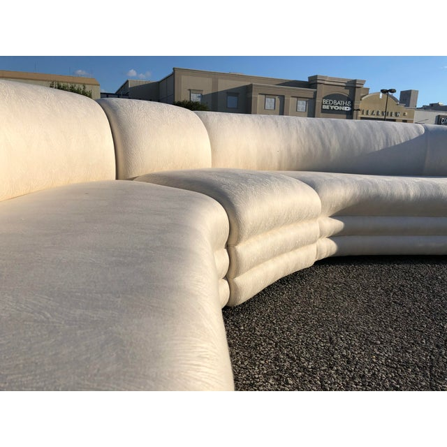 Textile Vladimir Kagan Serpentine Cloud Sofa For Sale - Image 7 of 10