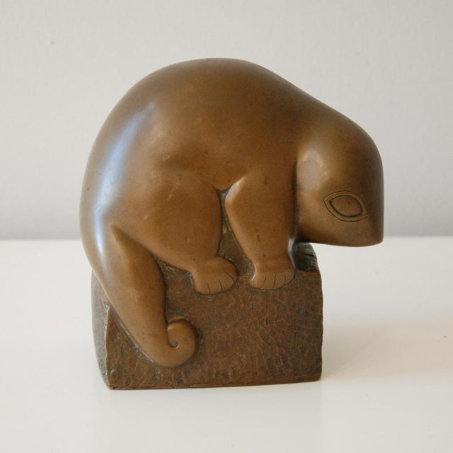 Circa 1940 Marian Weisberg Copper Stylized Lemur Sculpture For Sale In Richmond - Image 6 of 8