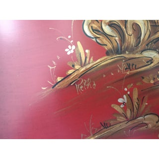 Hand Painted Chinoiserie Tables Signed Retha Preview