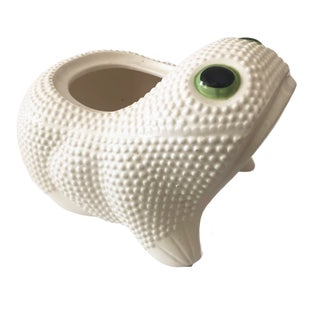 Vintage Ceramic Frog Planter For Sale