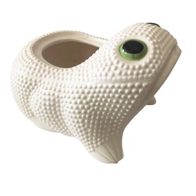 Vintage Ceramic Frog Planter For Sale