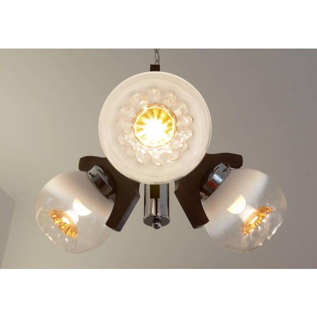 Vintage Murano Glass Ceiling Lamp, 1970s For Sale - Image 4 of 10