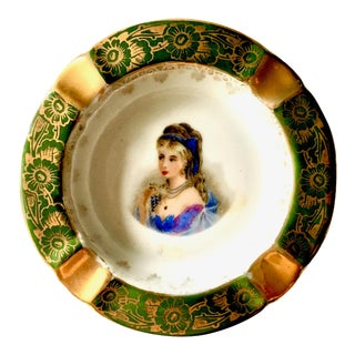 French Limoge France Dercor Fine China Small Dish/Ashtray For Sale