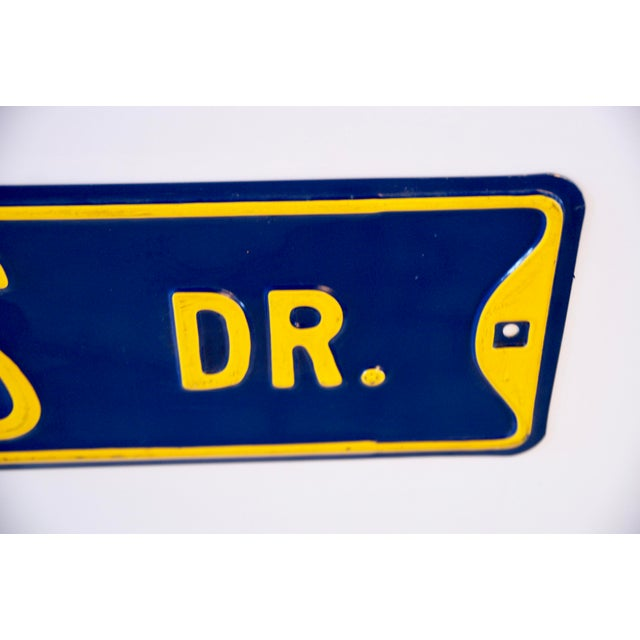 1980s West Virginia University Street Sign For Sale - Image 5 of 7