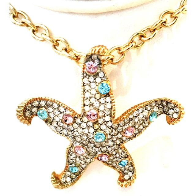 Early 21st Century 21st Century K. Lane Gold & Swarovski Crystal Starfish Pendant Necklace For Sale - Image 5 of 10