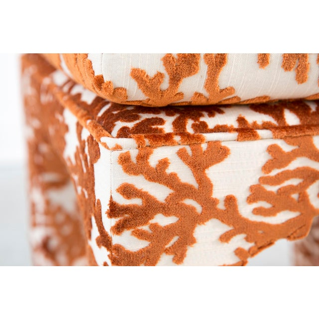 Set of Milo Baughman Stools Freshly Reupholstered - Image 3 of 11