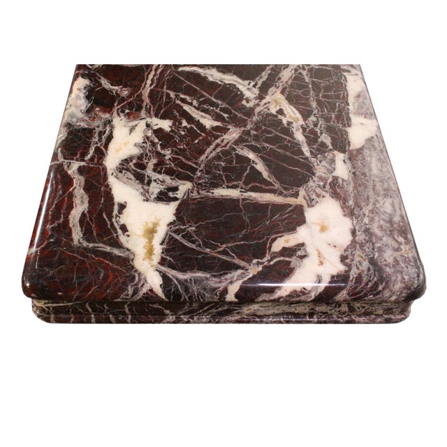 Art Deco Vintage Italian Modernist Black & Red Marble Entry Hall Console For Sale - Image 3 of 7