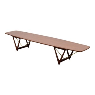 Mid 20th Century Long Kurt Ostervig Coffee Table For Sale