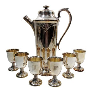 International Silver Guild Cadence Cocktail Shaker Set - Set of 7 For Sale