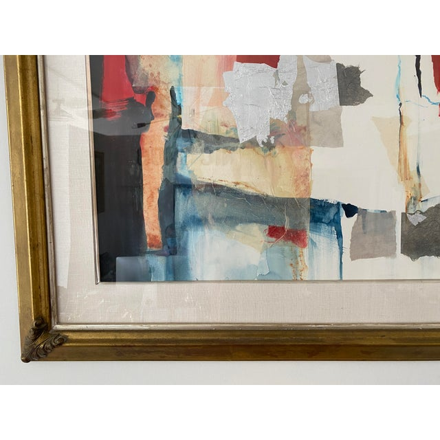 Vintage Harold Larson Painting Abstract Mixed Media Collage For Sale In West Palm - Image 6 of 13