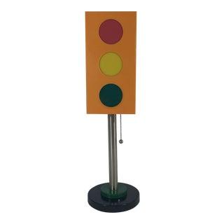 Vintage Mod Traffic Light Lucite Lamp For Sale