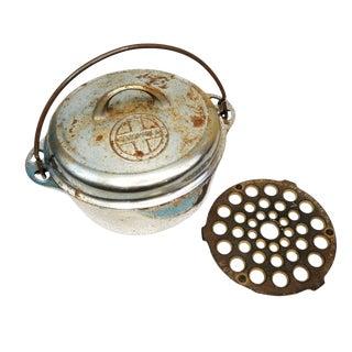 Vintge Griswold Erie Cast Iron #7 Dutch Oven Pot 1277 & Trivet