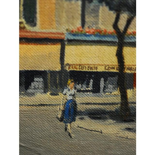 Americana s.g. Garrett -Place De La Contrescarpe ,Paris 1963 - Oil Painting For Sale - Image 3 of 9