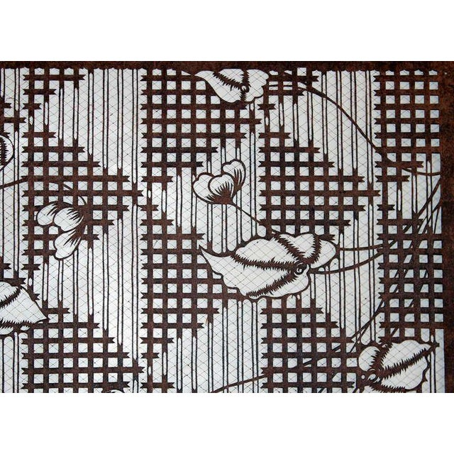 82a134d91 Antique Japanese Kimono Katagami Fabric Stencil For Sale - Image 4 of 11
