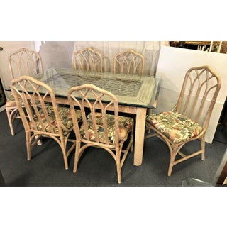 20th Century Boho Chic Henry Link Rattan Dining Set - 7 Pieces Preview