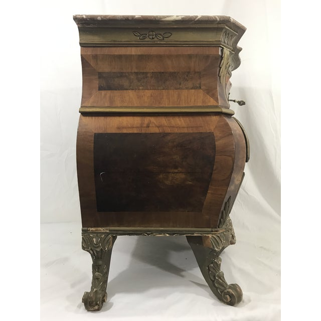 Venetian Style Marble Topped Commode For Sale - Image 4 of 6