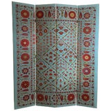 Image of Vintage Hand Embroidery Suzani Screen For Sale