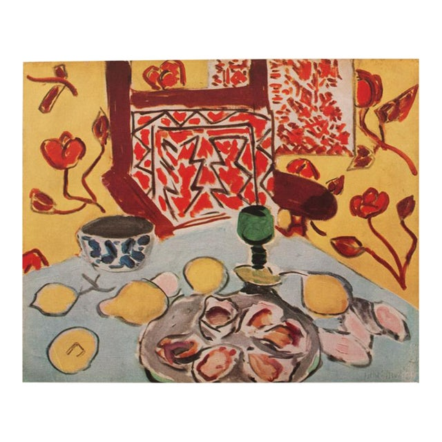"1946 Henri Matisse, ""Still Life on Blue Table"" Original Period Parisian Lithograph For Sale"