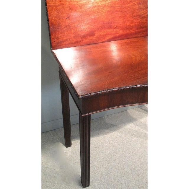 18th Century George III Mahogany Serpentine Front Game Table - Image 9 of 10