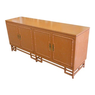 Ficks Reed Coral Faux Bamboo Credenza
