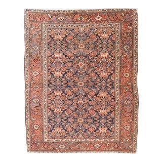 Antique Hand Made Heriz Serapi Persian Rug- 4′9″ × 6′ For Sale