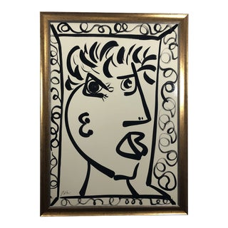 """""""Picasso Man"""" Peter Keil Contemporary Painting For Sale"""