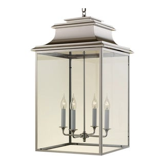 4 Candle Nickel Lantern For Sale