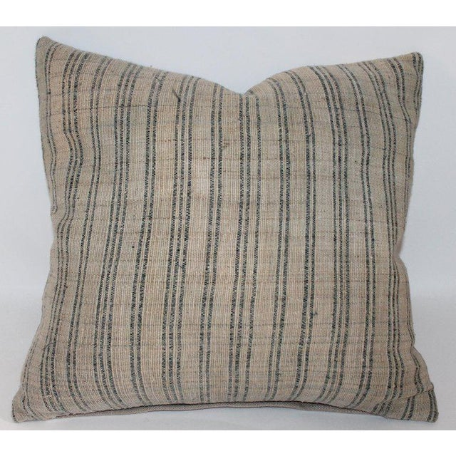 Tan 19th Century Early Linen Pillows - a Pair For Sale - Image 8 of 9