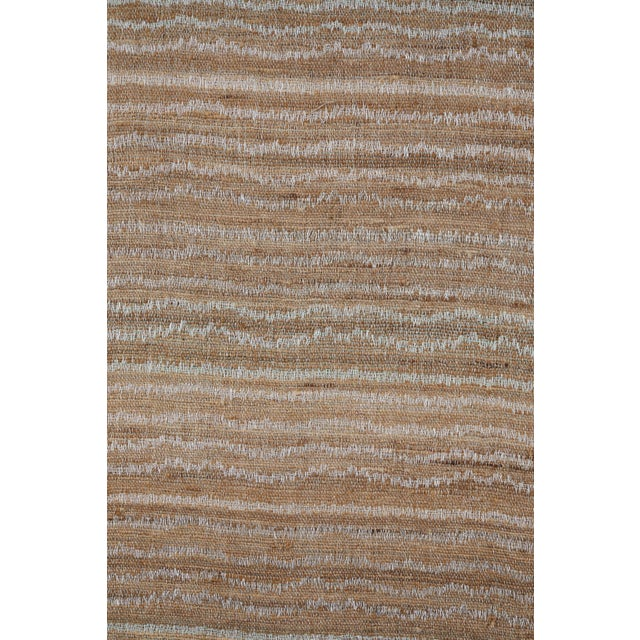 Contemporary Indian Handwoven Bedcover Small Ocean Stripe For Sale - Image 3 of 5