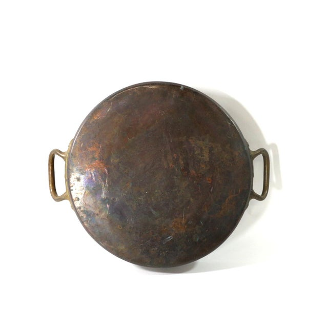 Antique 1880s Huge Copper & Tin Cooking Pan - Image 2 of 6