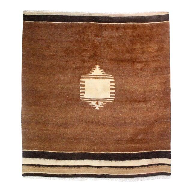 Nomadic Yoruk Tribe Hand-Woven Angora Blanket For Sale