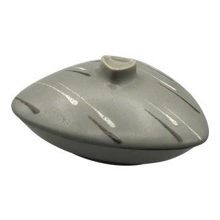Mid Century Modern Triangular Covered Ceramic Dish