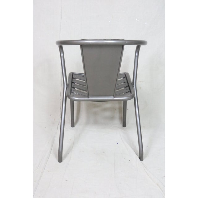 Metal Mid Century Tolix French Armchairs- Set of 4 For Sale - Image 7 of 9